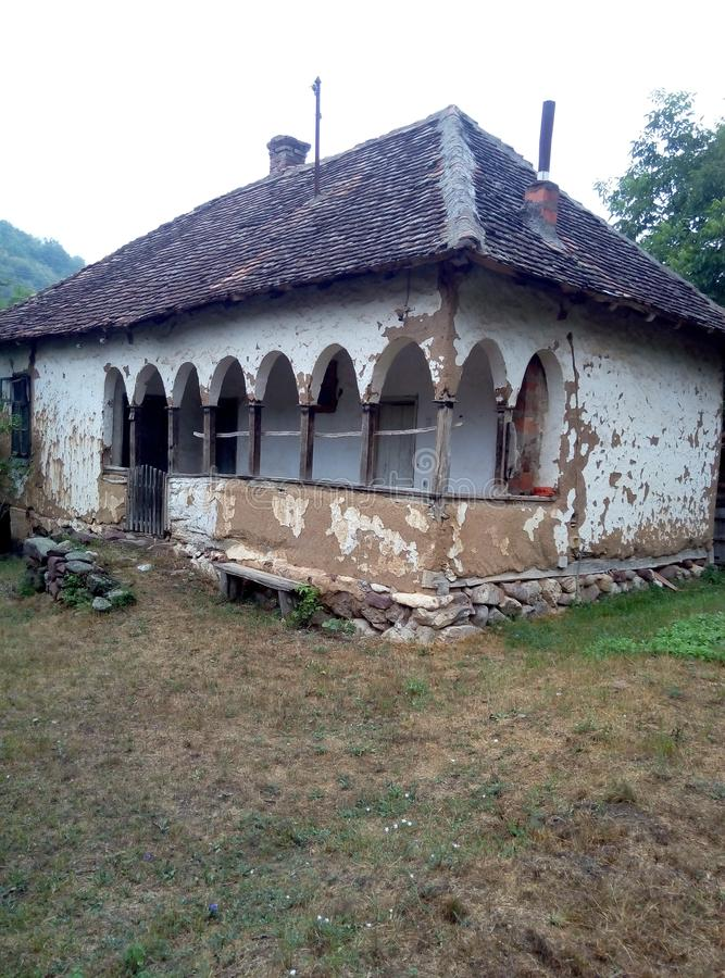 有曲拱的古国房子 库存图片