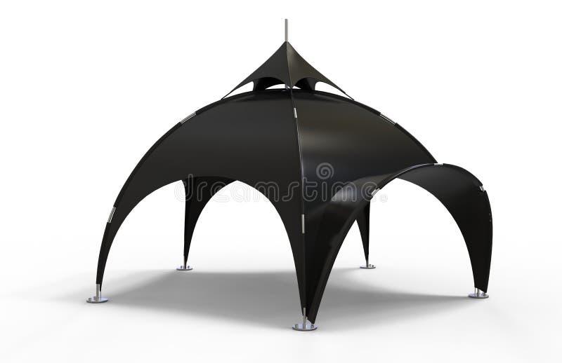 有曲拱的大地测量学的曲拱蜘蛛帐篷广告圆顶帐篷不同的事件的 3d例证回报 皇族释放例证