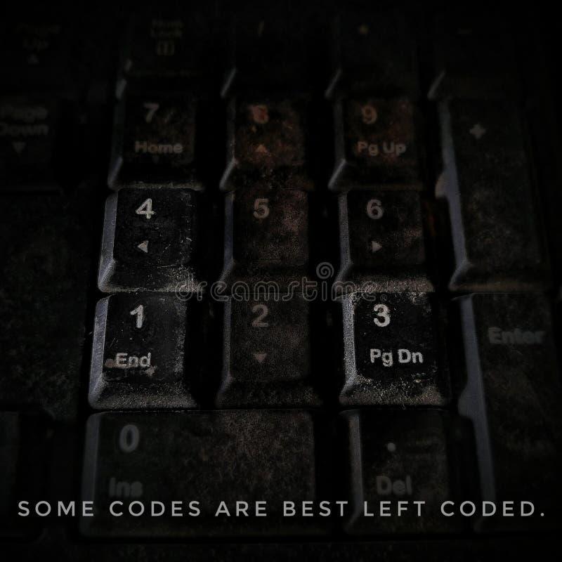 有有些钥匙的键盘突出了 库存图片