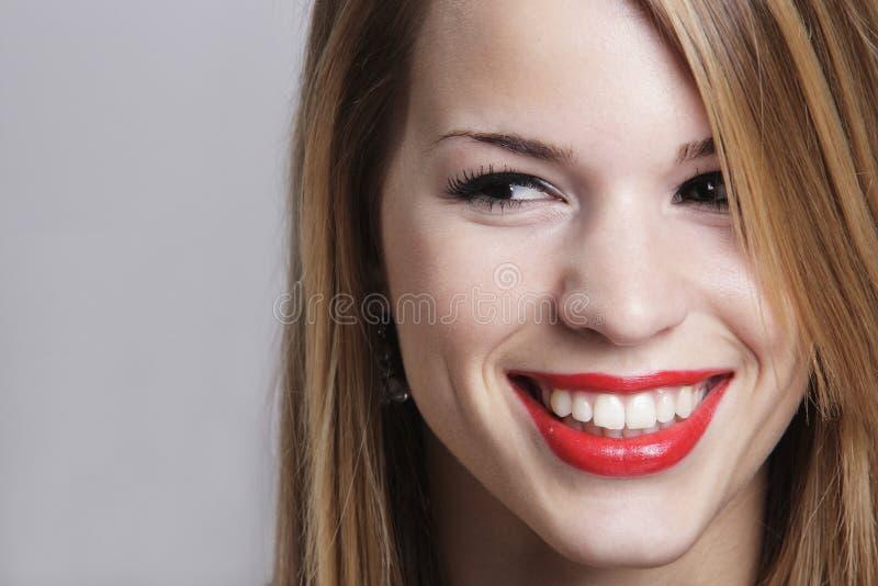 有有吸引力的微笑的女孩 图库摄影