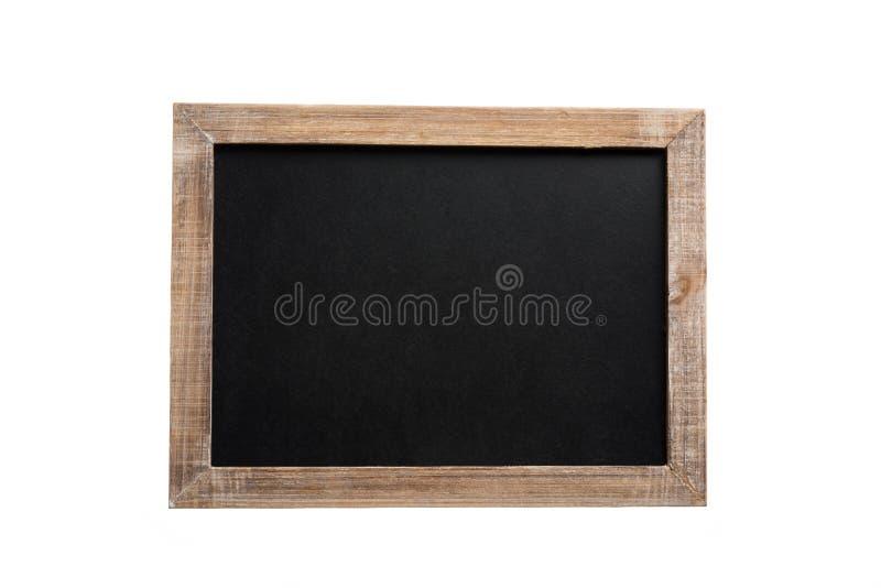 有木制框架的空白的葡萄酒黑板 库存图片