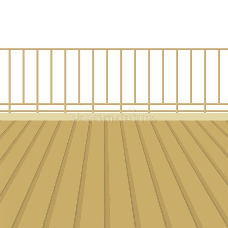 有木地板的木阳台 皇族释放例证