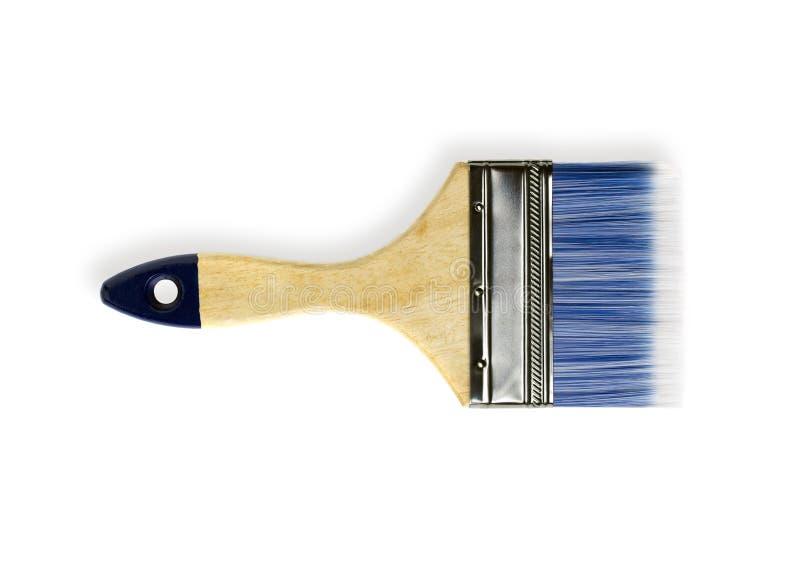 有木把柄的美丽的油漆刷 免版税图库摄影