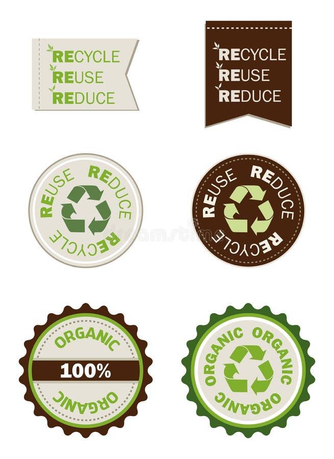 有机回收减少重新使用密封 皇族释放例证