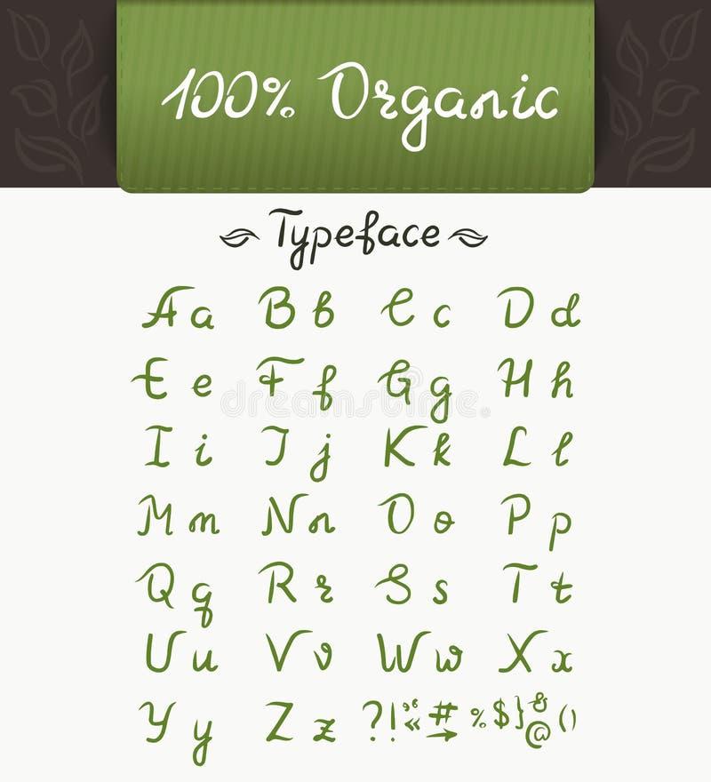 100有机字体 向量例证