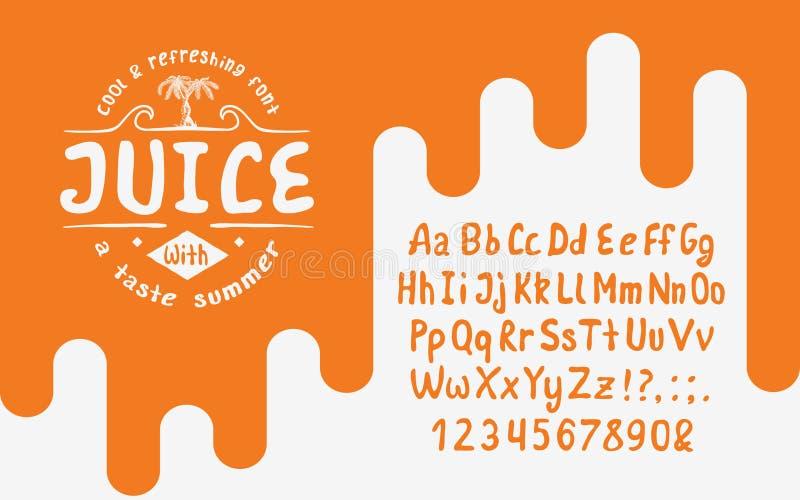 有机手写的字体汁液图片