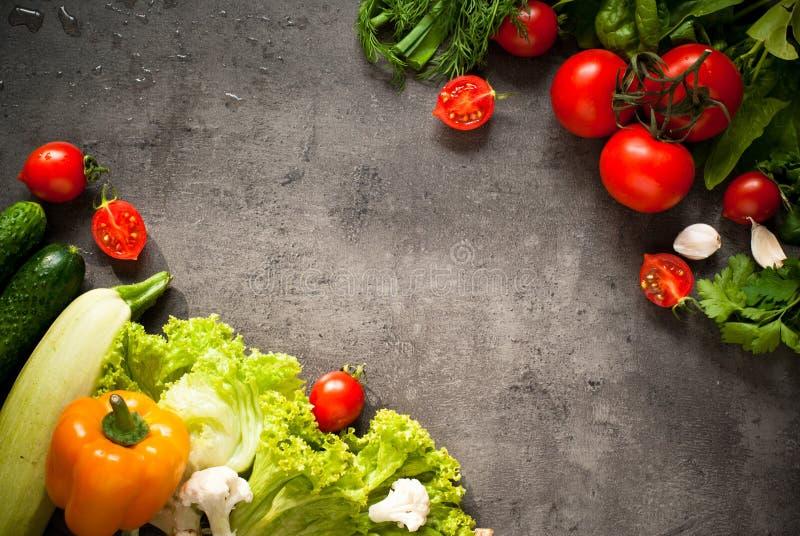 有机新鲜蔬菜 免版税库存照片