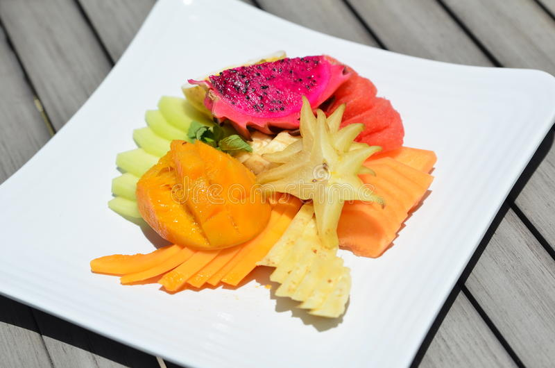 有机果子板材-蔬菜/水果 库存图片