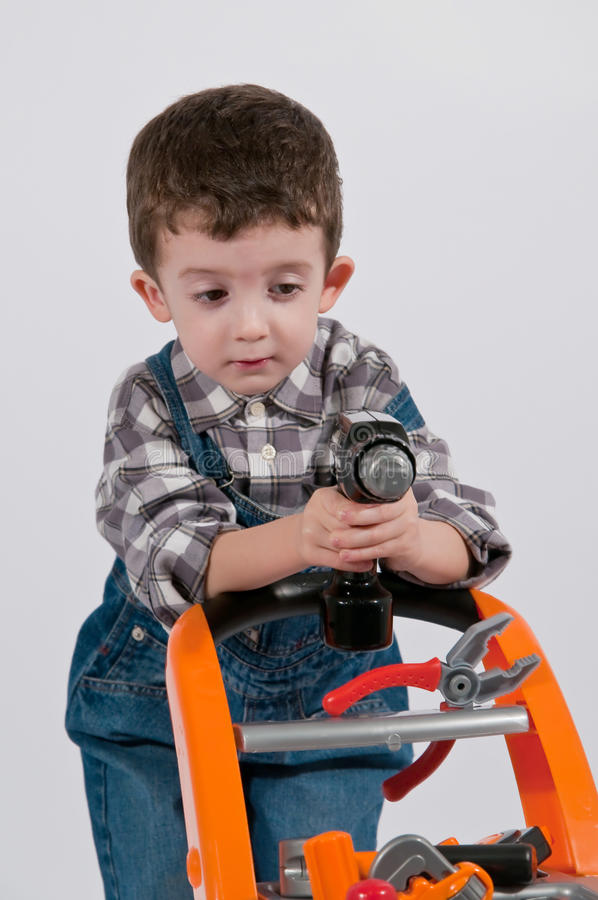 有机械齿轮的婴儿车 免版税库存照片