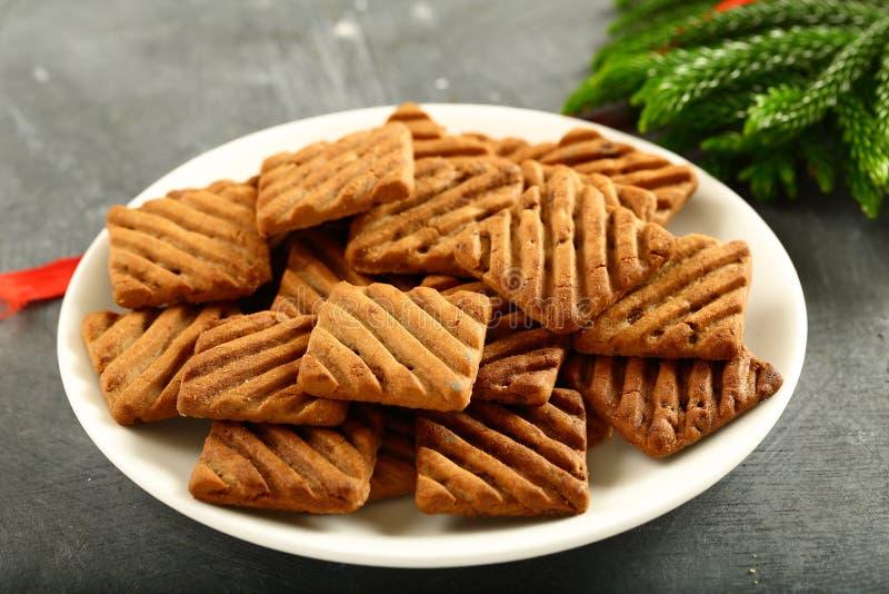 有机素食主义者低碳饮食choco曲奇饼板材  库存图片