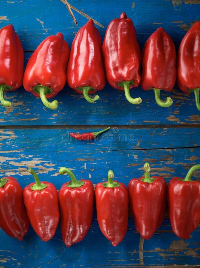 有机胡椒红色 库存图片