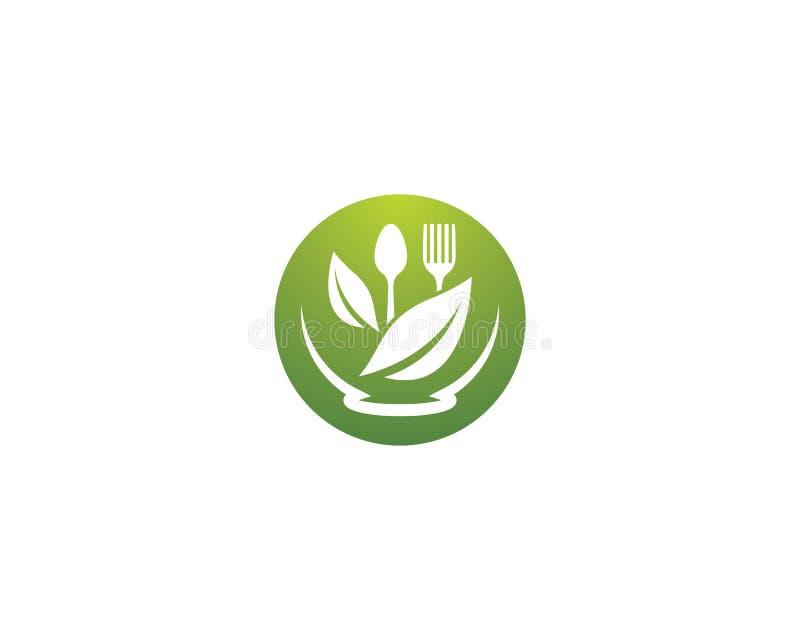 有机食品商标模板 向量例证