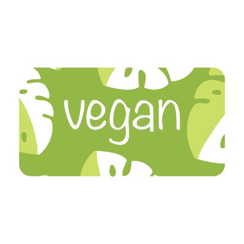 有机食品购物或素食主义者咖啡馆名片与叶子的设计模板 传染媒介象例证象eps10象 向量例证