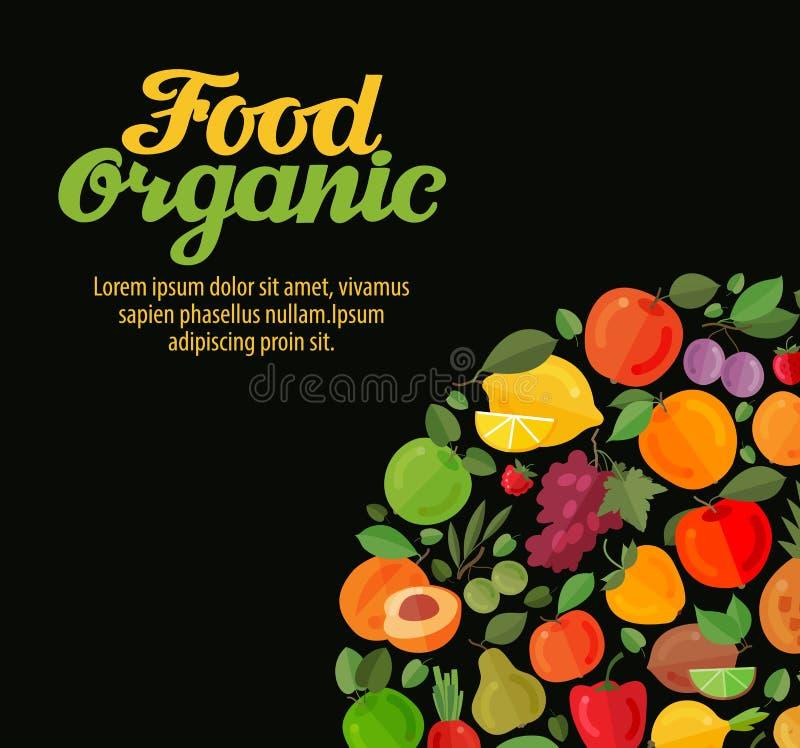有机食品 水果和蔬菜传染媒介 皇族释放例证