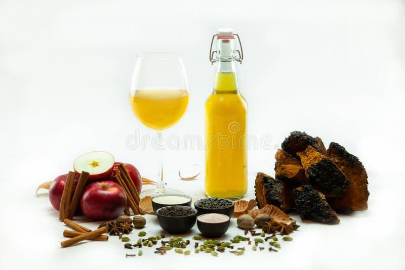 有机&健康家酿蘑菇茶 免版税库存照片