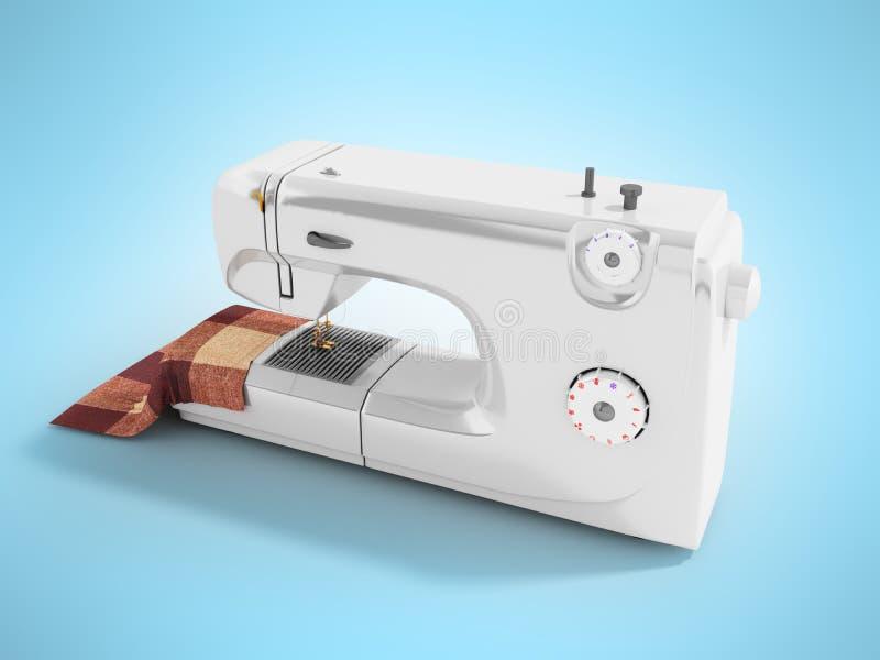 有材料的现代缝纫机裁缝白色persp的 皇族释放例证