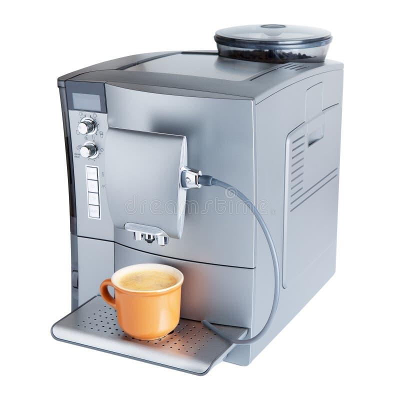 有杯子的咖啡设备 免版税库存照片