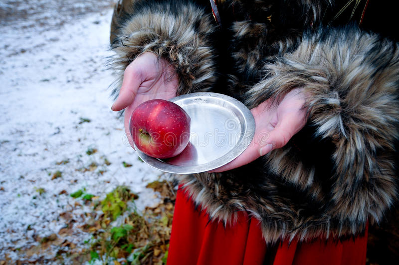 Download 有板材和苹果冬天童话的妇女手 库存照片. 图片 包括有 圣诞节, 木头, 时间, 童话, 外套, 奇迹, 妇女 - 62537676