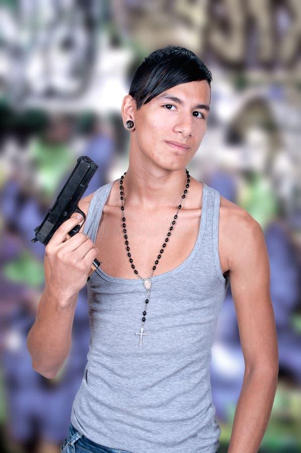 有枪的西班牙人 免版税库存图片