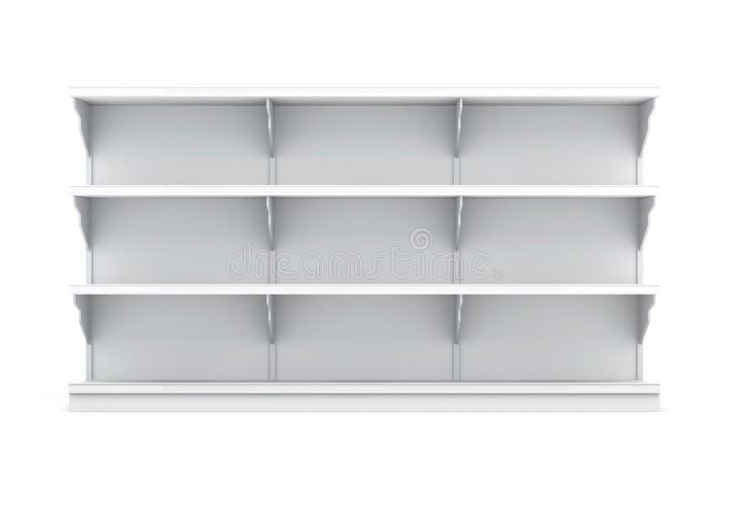 有架子的正面图机架被隔绝的超级市场的 库存例证