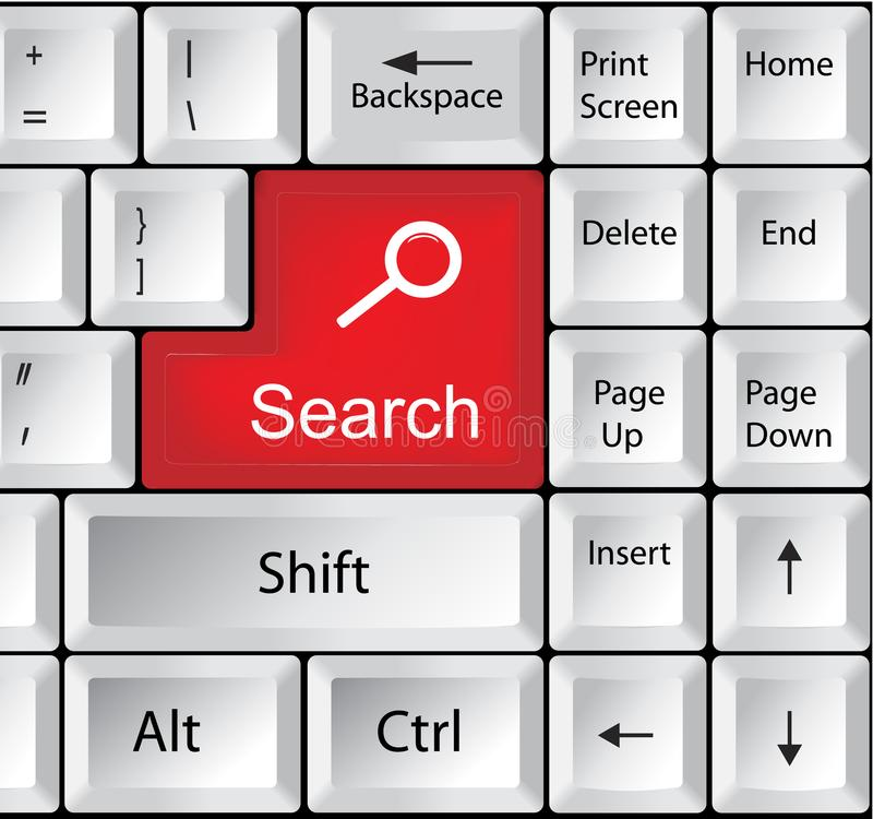 有查寻的-企业概念键盘 图库摄影