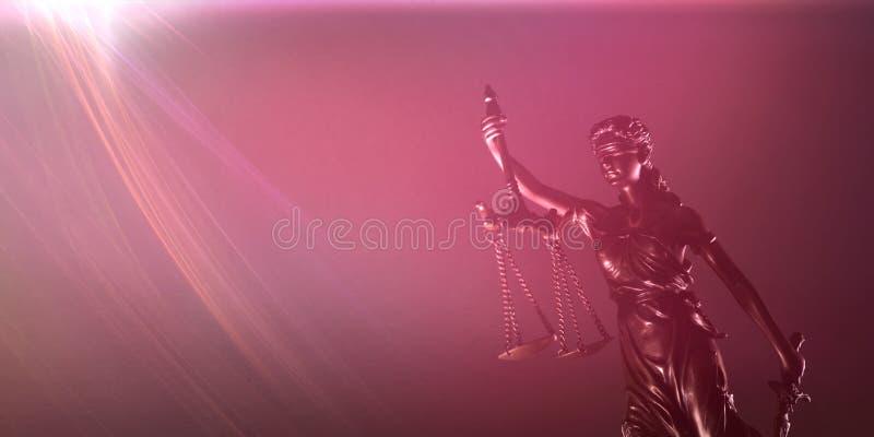 有标度和剑的-法律概念忒弥斯 图库摄影