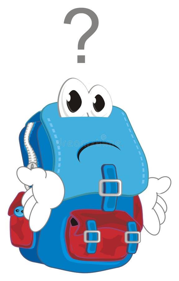有标志的哀伤的背包 向量例证