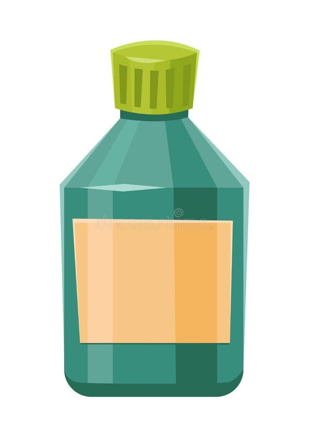 有标签的医学瓶药物片剂的压缩在白色背景隔绝的处方维生素 皇族释放例证