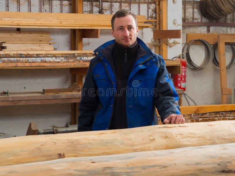有树干的木匠 免版税库存图片