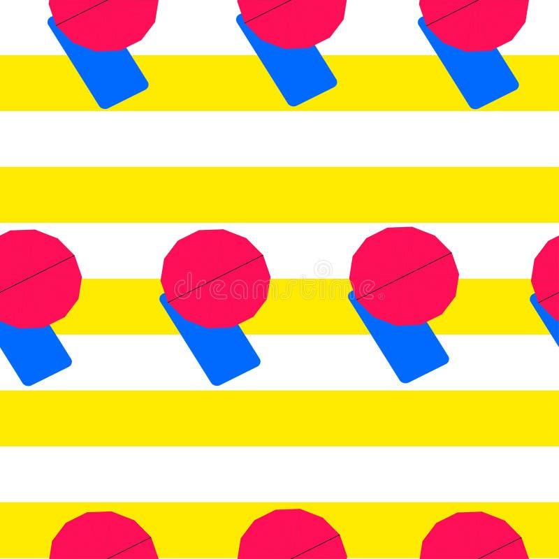 有桃红色伞的蓝色吊床 向量例证