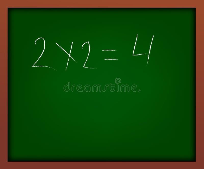 有框架例证的绿色学校黑板 一个简单的学校惯例 库存例证