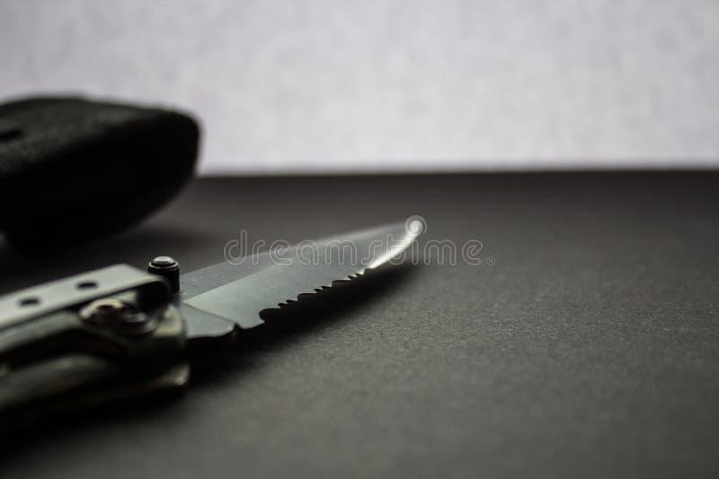 有案件的猎刀 库存照片