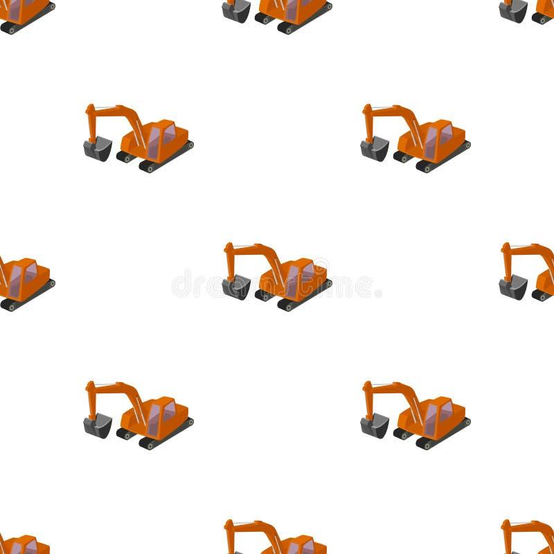 有桶的橙色挖掘机 皇族释放例证