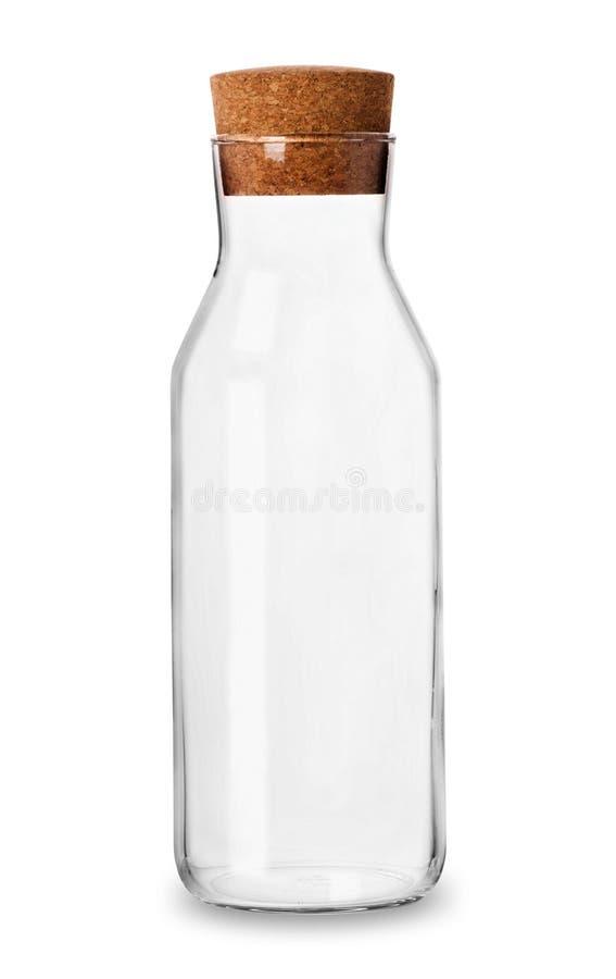 有桶盖的空的玻璃瓶子 库存图片
