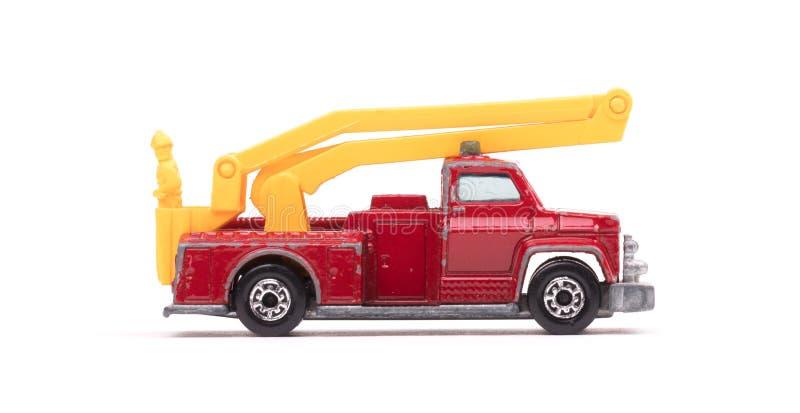 有梯子的玩具救火车 免版税图库摄影