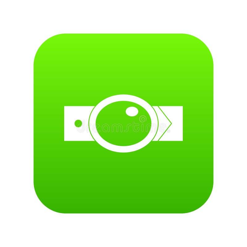 有椭圆形的扣象数字式绿色的传送带 向量例证