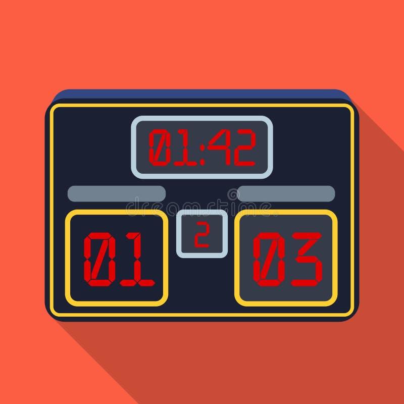 有橄榄球比分的委员会  爱好者选拔在平的样式传染媒介标志股票例证的象 向量例证