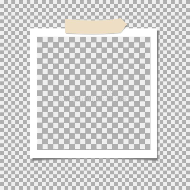 有橡皮膏的,稠粘的磁带相框 ?? r 库存例证