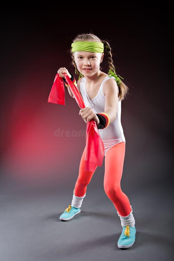 一点健身女孩 免版税库存图片