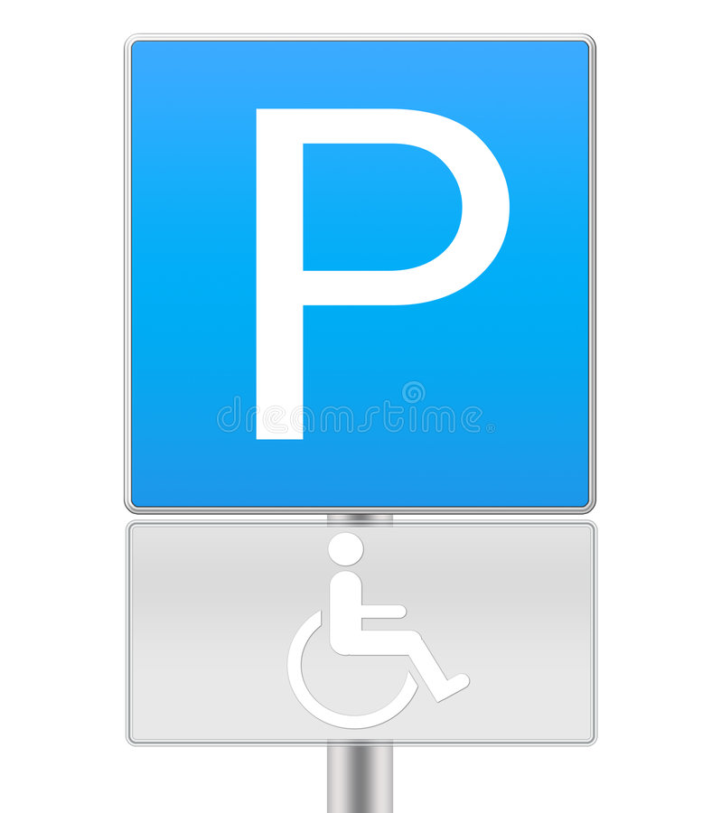 有残障的停车符号 库存照片