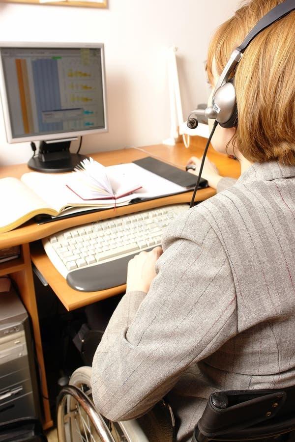 有残障的电话推销 免版税库存图片
