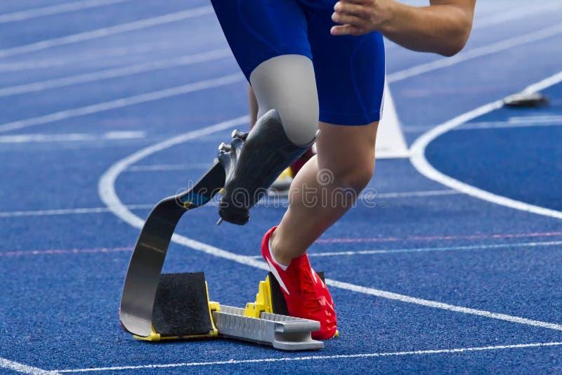 有残障的短跑选手 图库摄影