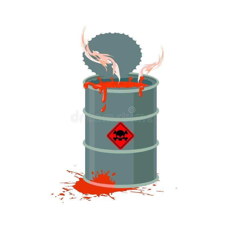 有毒废料桶 放射性产业垃圾放射 chem 库存例证
