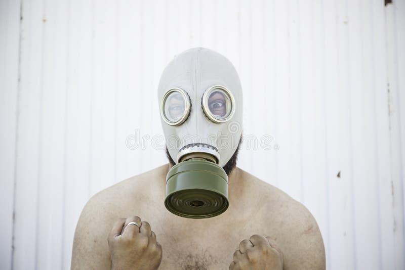 有毒气室的人 免版税库存照片