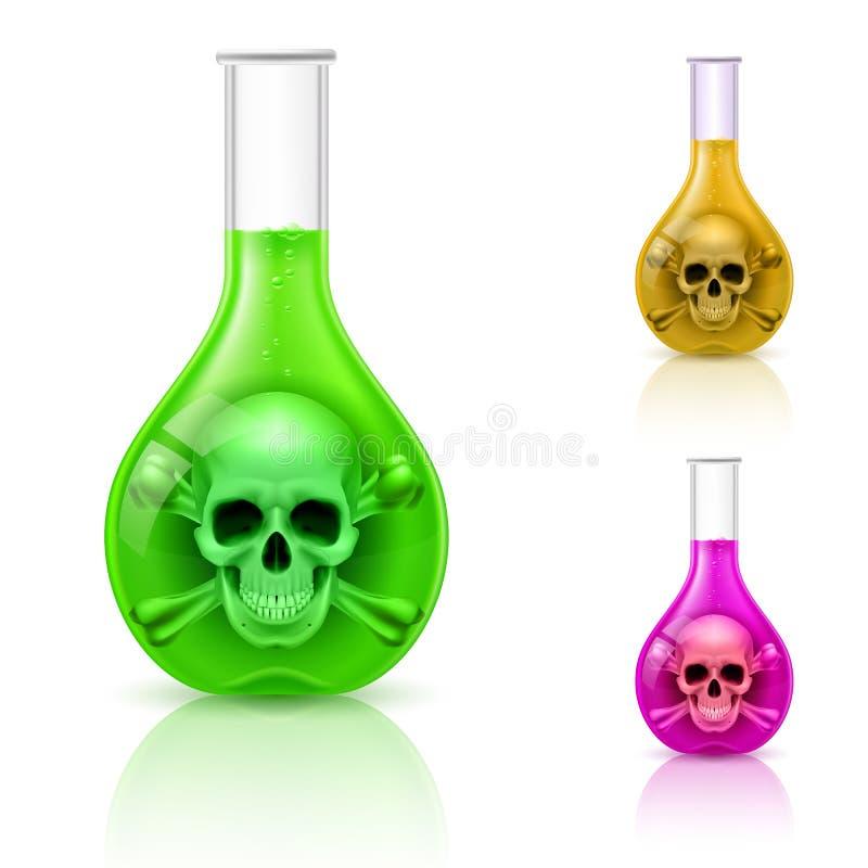 有毒物的小瓶。 库存例证