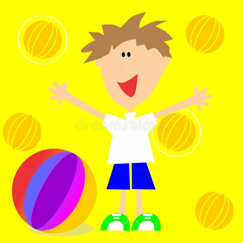 有气球的孩子 免版税库存照片
