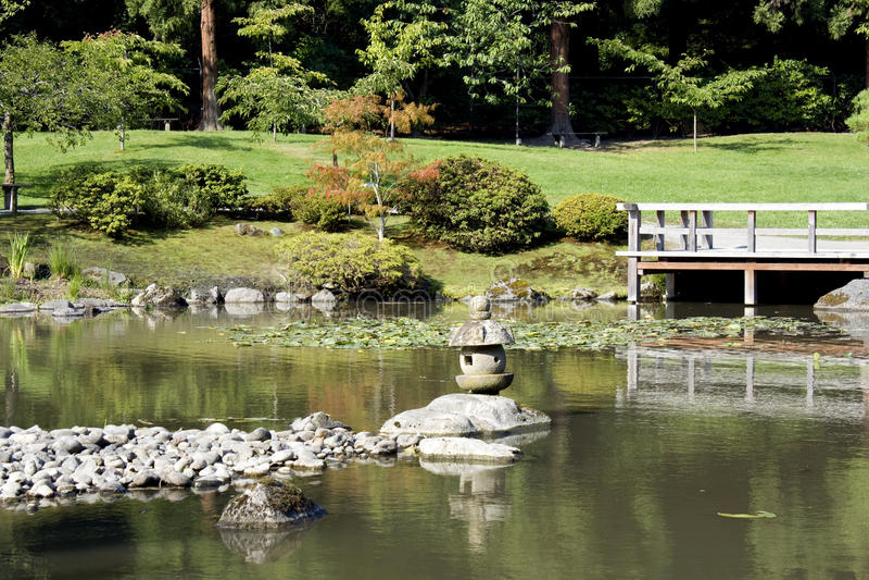 Download 有池塘的美丽如画的日本庭院 库存照片. 图片 包括有 公园, backarrow, 百合, 横向, 创造性 - 26613208