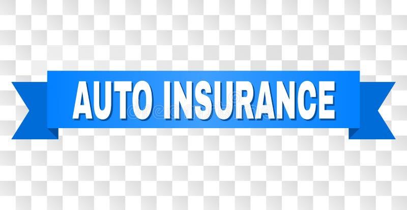 有汽车保险文本的蓝色磁带 皇族释放例证