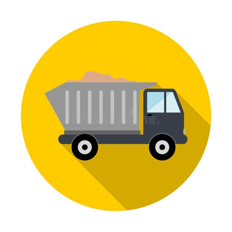 有沙子象的卡车 皇族释放例证