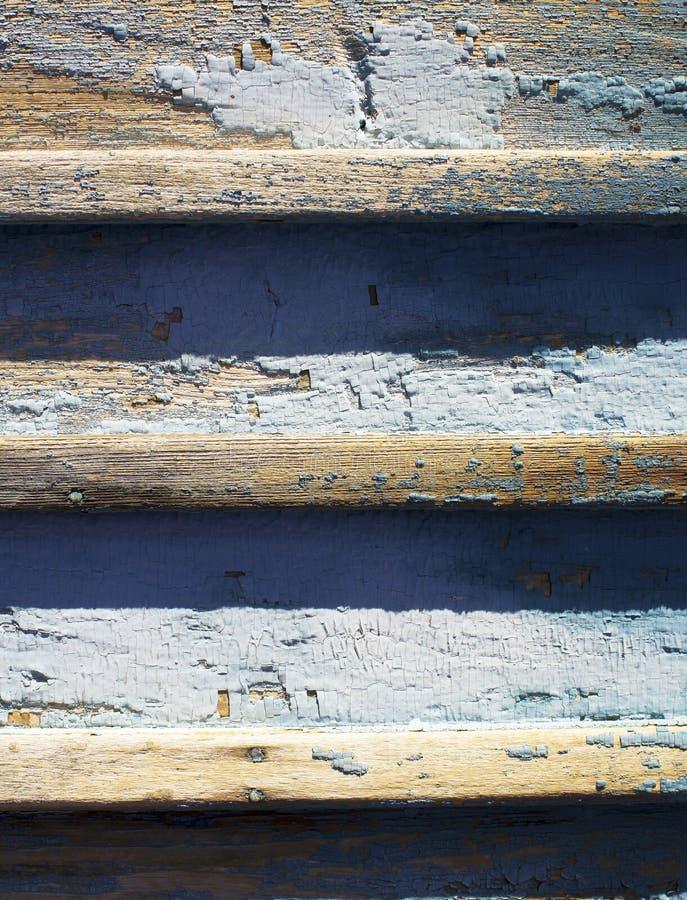 有油漆的老木篱芭 图库摄影